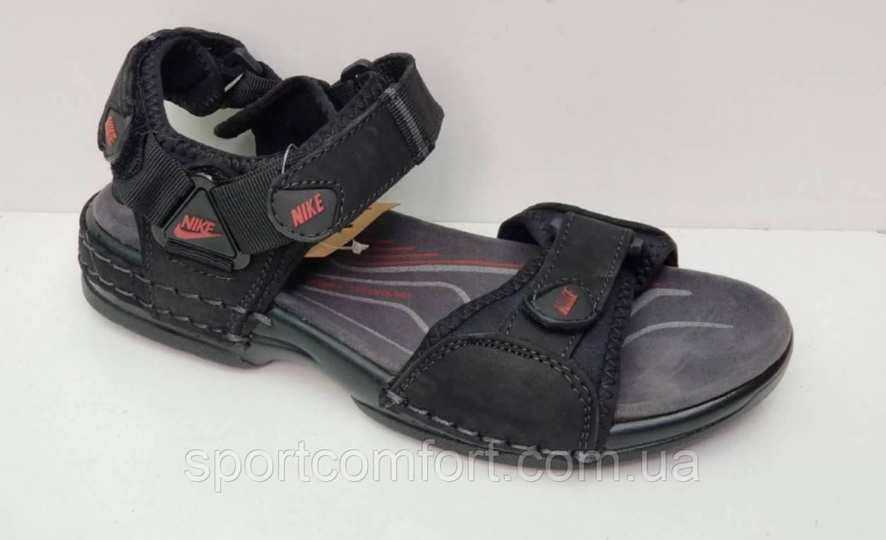 Сандали Nike черные подросток