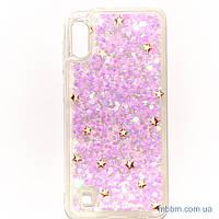Накладка TPU Lively Glitters Samsung A10 gold stars