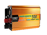 Преобразователь напряжения (инвертор) 12-220V UKC 500W - Золотой, фото 1