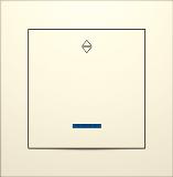 """Вимикач одноклавішний бежевий з LED підсвічуванням прохідний серія """"ІДЕАЛ"""" ТМ """"MARSHEL"""""""