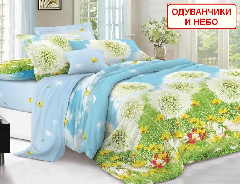 cfb8ed507129 Евро набор постельного белья - Одуванчики и небо - купить по лучшей ...