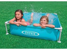 Бассейн каркасный детский Intex (122x122x30см), 340л