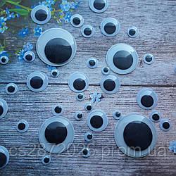 """Глазки для игрушек """"бегающие"""", 6 мм.100 шт"""