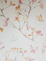 Обои бумажные YORK  KI0514 A Perfect World детские молодежные  бабочки цветы ветки