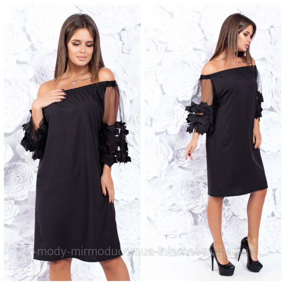 Платье нарядное, рукава фатин (42-48) 5602022 - RN5601
