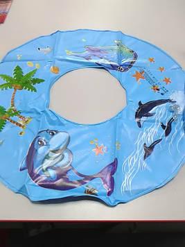 Круг надувной с рисунком дельфин 50 см
