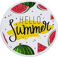 Пляжное покрывало-полотенце (Hello Summer) 150 x 150 см