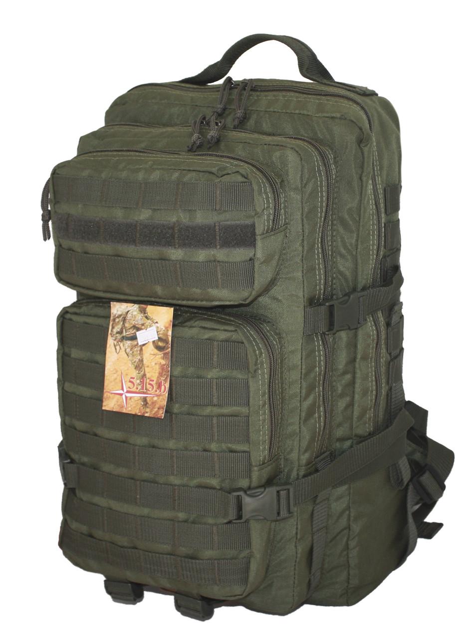 Тактический, штурмовой супер-крепкий рюкзак 38 литров олива Кордура 500 ден