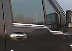 Ford Connect 2002-2006 рр. Зовнішня окантовка вікон (2 шт., нерж.) Carmos - Турецька сталь
