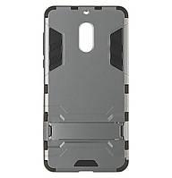 Бронированный противоударный чехол Stand для Nokia 6 Grey
