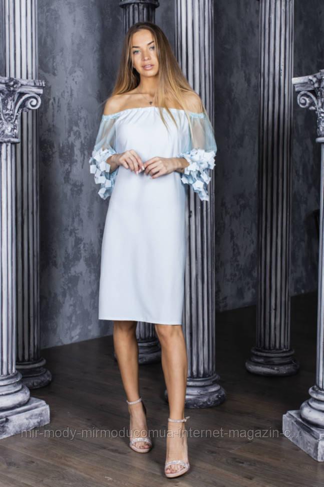Платье нарядное, рукава фатин в расцветках (42-48) 5602021 - RN5601