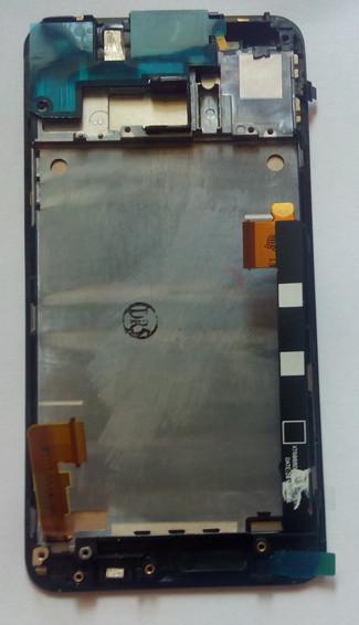 Дисплей модуль HTC One M7 801e в зборі з тачскріном, чорний, з рамкою