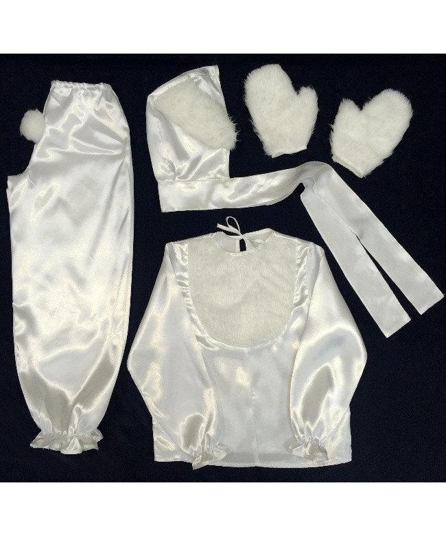 Детский карнавальный костюм Bonita Зайка мальчик № 2 95 - 110 см Белый