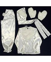 Детский карнавальный костюм Bonita Зайка мальчик № 2 95 - 110 см Белый, фото 1
