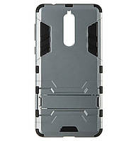 Бронированный противоударный чехол Stand для Nokia 8 Grey