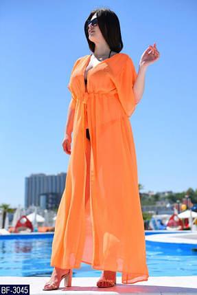Модная туника для пляжа длинная много расцветок с 50 до 56 размер, фото 2
