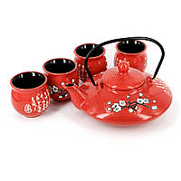 Чайный набор в подарок АS011 чайник плюс 4 чайные чашки