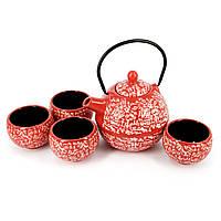 Набор чайной посуды для чайной церемонии красный АS031