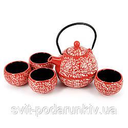 Набор посуды для чайной церемонии красный АS031