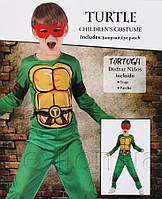Костюм детский карнавальный для мальчиков ЧЕРЕПАШКА-2, рост 110-120 см, зеленый.