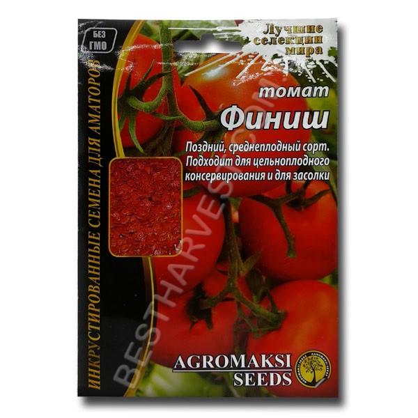 Семена томата «Финиш» 3 г, инкрустированные