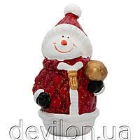 Декорация - снеговик, 13,5 см, арт. 022793