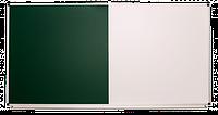 Доска одинарная: меловая, магнитно-маркерная, комбинированная – 2000x1000 мм ( с зеленой поверхностью)