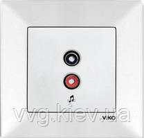 Аудиорозетка белая VIKO Meridian