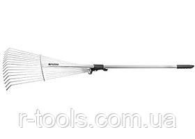 Грабли веерные 15-зубые металлический черенок 1600 мм раздвижные Palisad 617568