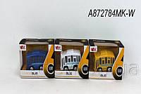 Автобус 1:36 металлический инерционный, музыкальный, со светом, арт. A872784MK-W