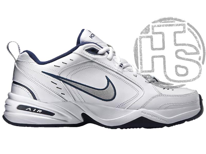 Мужские кроссовки Nike Air Monarch IV Lifestyle/Gym Shoe White Metallic Silver 415445-102