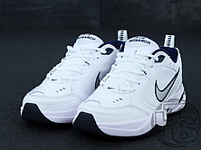 Мужские кроссовки Nike Air Monarch IV Lifestyle/Gym Shoe White Metallic Silver 415445-102, фото 2