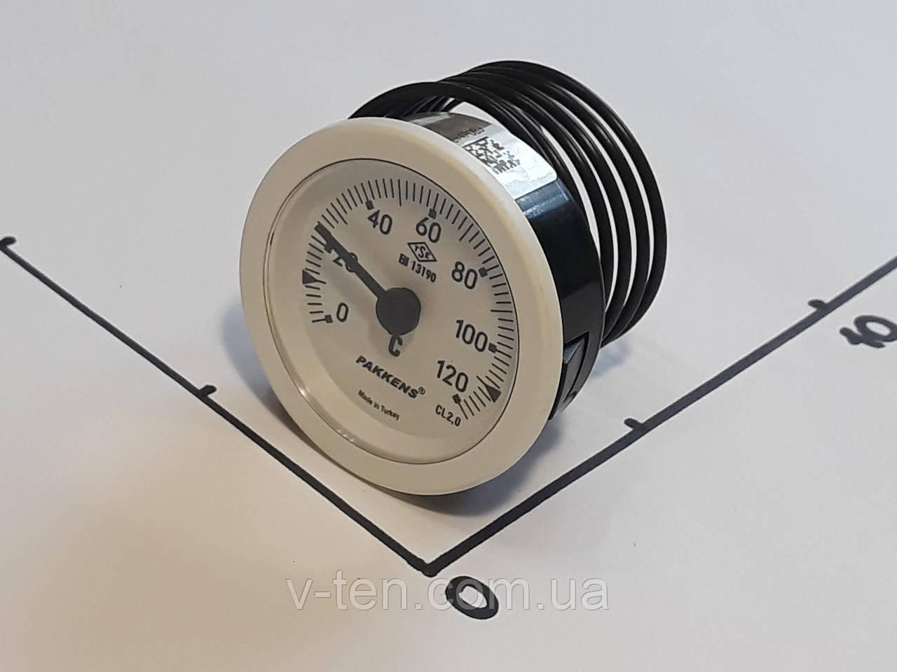 Термометр Ø52мм / 120°С / L-100 cм PAKKENS капиллярный (Турция)