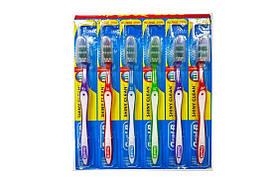 Зубная щетка Oral-B Shiny Clean Soft 35 Z-образные щетинки. набор 6 шт