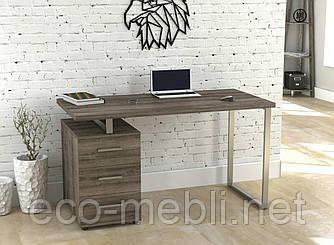 Письмовий стіл для дому та офісу L-27 Макс Loft Design Хром / Дуб Палєна
