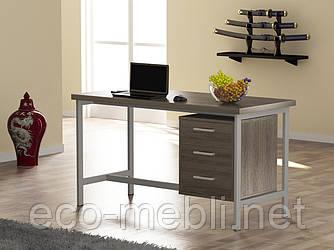 Письмовий стіл для дому та офісу L-45 Loft Design Хром / Дуб Палєна