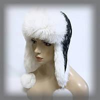 Женская ушанка из кролика (белая), фото 1