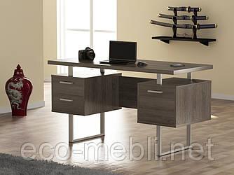 Письмовий стіл для дому та офісу L-81 Loft Design Хром / Дуб Палєна