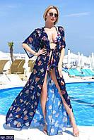Красивая шифоновая пляжная туника в ярких  принтах много расцветок с 42 по 46 размер