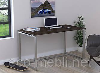 Письмовий стіл для дому та офісу Q-135 без царги Loft Design Хром / Венге Корсика