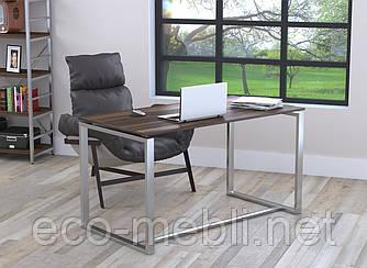 Письмовий стіл для дому та офісу Q-135 без царги Loft Design Хром / Горіх Модена