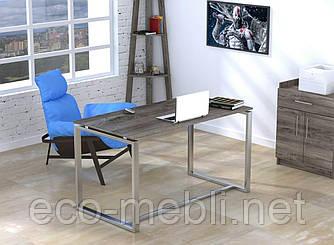 Письмовий стіл для дому та офісу Q-135 без царги Loft Design Хром / Дуб Палєна