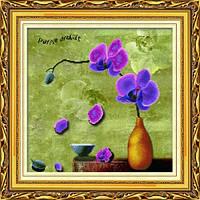 """Сиреневая орхидея. Honey Home"" Набор для рисования камнями"