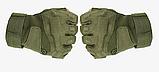 Тактические беспалые перчатки BlackHawk олива XL, фото 2