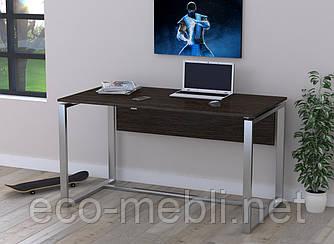 Письмовий стіл для дому та офісу Q-135 Loft Design Хром / Венге Корсика