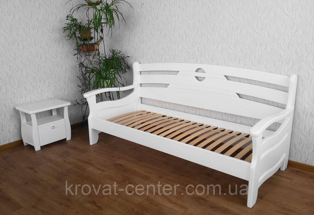 """Белый детский диван кровать из натурального дерева """"Луи Дюпон Люкс"""""""
