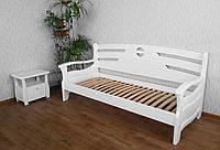 """Детский диван кровать из натурального дерева """"Луи Дюпон Люкс"""" белый"""