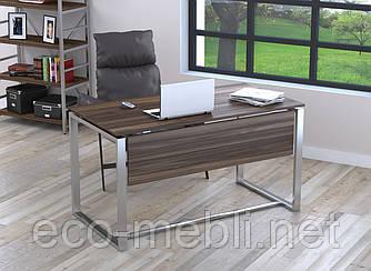 Письмовий стіл для дому та офісу Q-135 Loft Design Хром / Горіх Модена