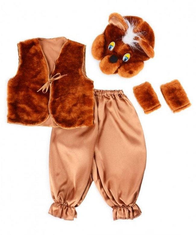 Детский карнавальный костюм Bonita Мишка № 1 95 - 110 см Коричневый