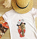 """Жіноча футболка зі стильним принтом """"Baby"""", фото 3"""